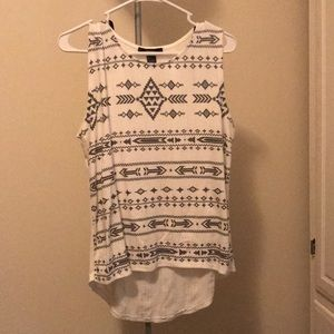 Aztec sleeveless top (worn twice)